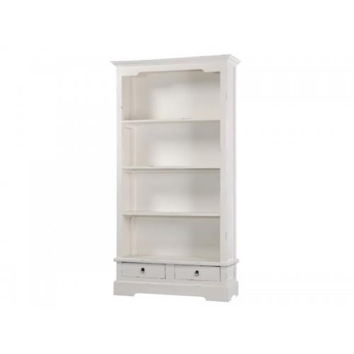 Βιβλιοθήκες μαόνι φουρνιστό W/W λευκή πατίνα Βιβλιοθηκες Κλασικες